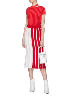 PH5 'Hazel' colourblock stripe knit skirt