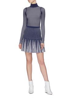 PH5 Stripe rib knit turtleneck top