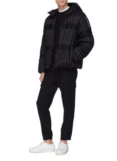 Moncler Genius x Craig Green 'Halibut' grosgrain trim hooded down puffer jacket