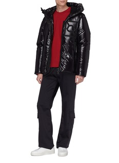 Moncler Genius x Craig Green 'Tang' logo patch hooded down puffer jacket