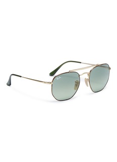 Ray-Ban 'Marshal' tortoiseshell rim hexagonal frame metal sunglasses