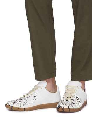 e251a040352 'Replica' paint splatter leather sneakers