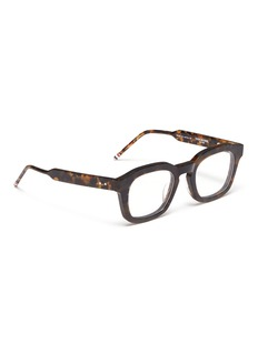 Thom Browne 'Tokyo' tortoiseshell acetate square optical glasses