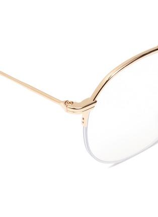 Detail View - Click To Enlarge - Thom Browne - Browbar metal round optical glasses