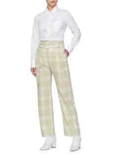 MATÉRIEL Belted check plaid pants