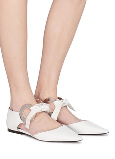 Proenza Schouler Metal ring tie leather d'Orsay flats