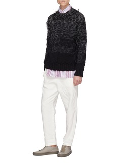 MAISON FLANEUR Distressed wool sweater
