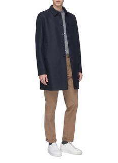 Harris Wharf London Virgin wool melton mac coat
