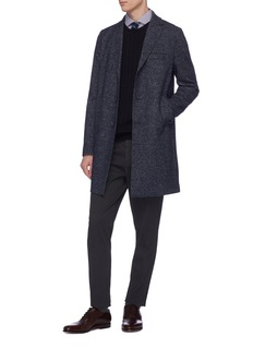 Harris Wharf London Virgin wool blend cavalry twill boxy coat