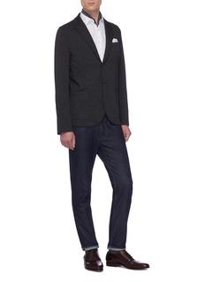 Harris Wharf London Loro Piana® wool-cotton twill soft blazer