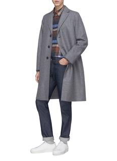 Harris Wharf London Notched lapel virgin wool melton coat
