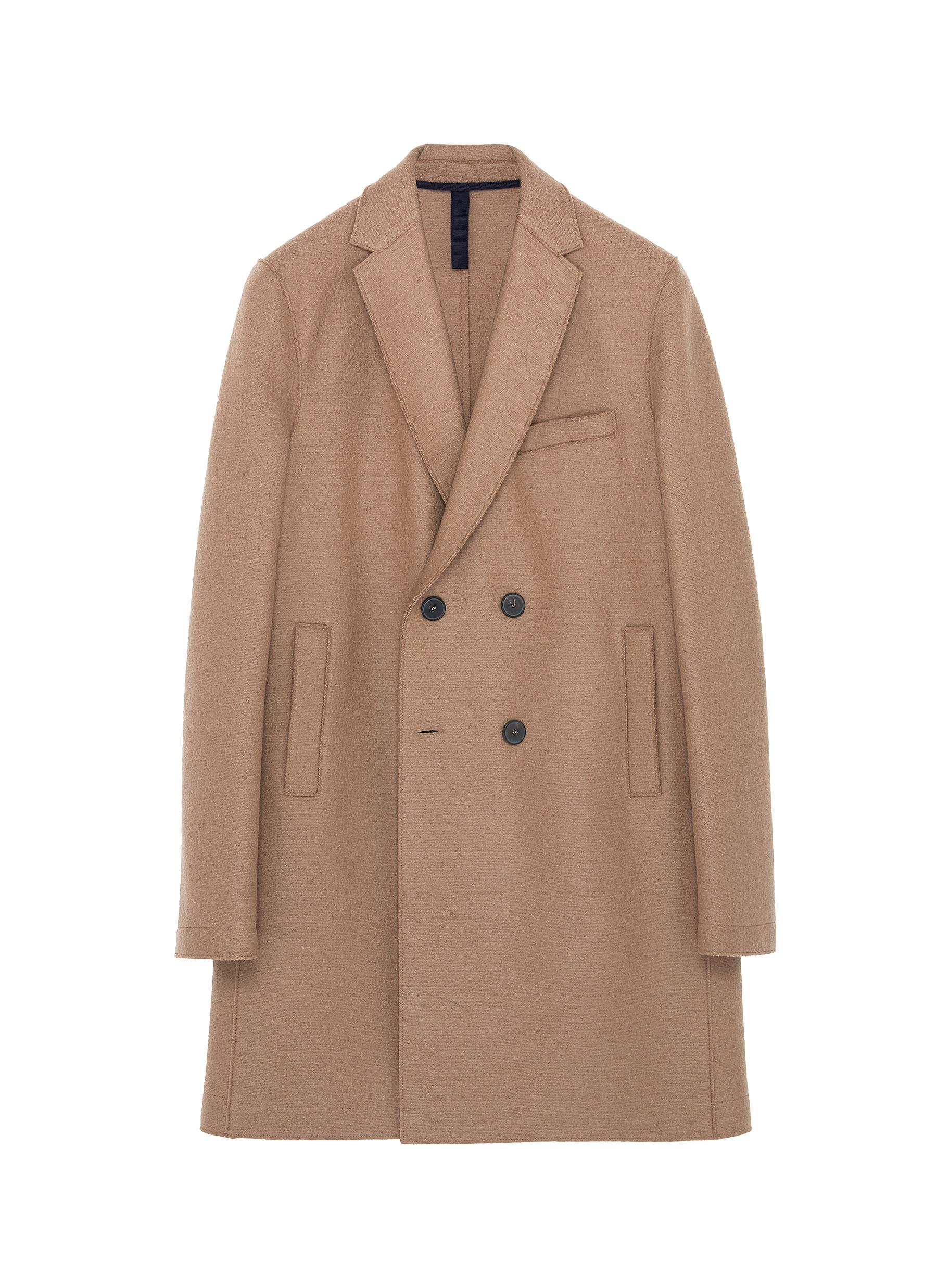 Harris Wharf London. Virgin wool melton double breasted coat 3ce9004567211