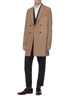 Harris Wharf London Virgin wool melton double breasted coat