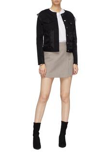 J Brand 'Slim' organdy panel denim jacket