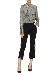 J Brand 'Selena' ruffle trim flared jeans