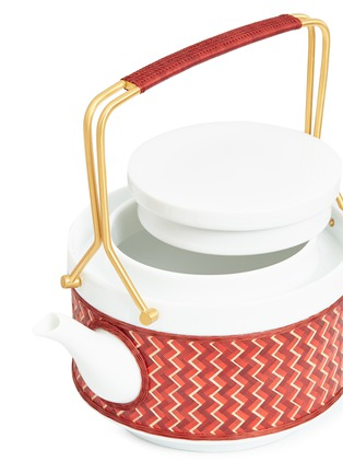 Detail View - Click To Enlarge - SHANG XIA - Satisfaction bamboo tea set –Red