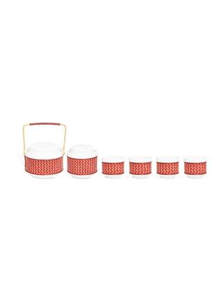 Main View - Click To Enlarge - SHANG XIA - Satisfaction bamboo tea set –Red