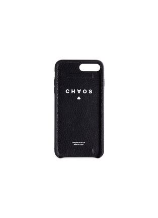 - CHAOS - Logo jacquard strap leather iPhone 7 Plus/8 Plus case –Black