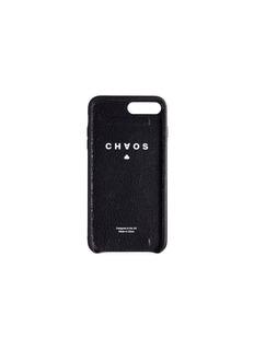 CHAOS Logo jacquard strap leather iPhone 7 Plus/8 Plus case –Black