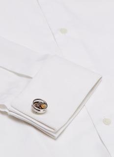 Tateossian Gear carbon fibre cufflinks