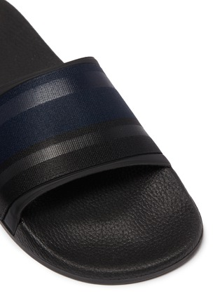Detail View - Click To Enlarge - DANWARD - Colourblock web slide sandals