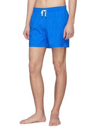 Figure View - Click To Enlarge - DANWARD - 'Capri' rectangle embroidered swim shorts