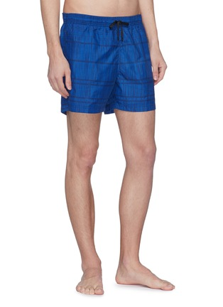 Figure View - Click To Enlarge - DANWARD - 'Capri' bamboo stripe swim shorts