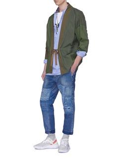 FDMTL Sashiko boro patchwork distressed jeans