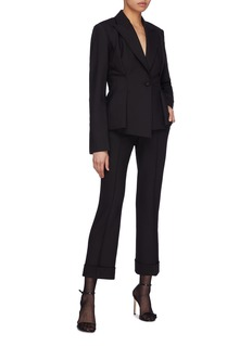 Helmut Lang Roll cuff flared suiting pants
