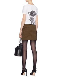 Helmut Lang Logo feather print T-shirt