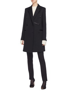 Helmut Lang Double breasted wool blend coat