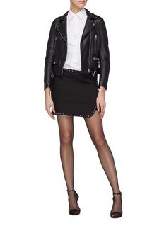 Helmut Lang Stud mock wrap mini skirt