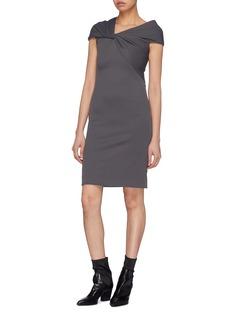 Helmut Lang Asymmetric twist yoke dress
