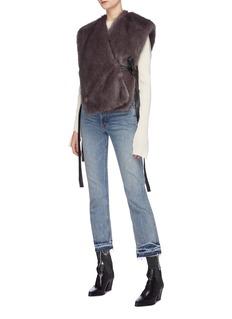 Helmut Lang Faux fur wrap coat