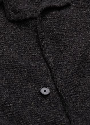 - Camoshita - Notched lapel wool blend cardigan
