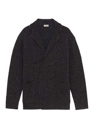 Main View - Click To Enlarge - Camoshita - Notched lapel wool blend cardigan