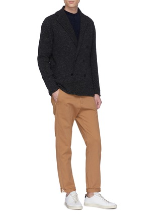 Figure View - Click To Enlarge - Camoshita - Notched lapel wool blend cardigan