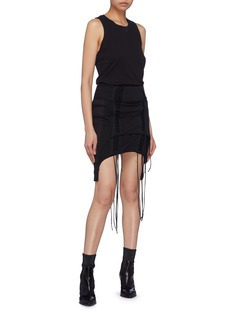 Helmut Lang 'Aviator' lace-up panelled skirt