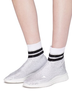 Joshua Sanders Strass knit sock sneakers