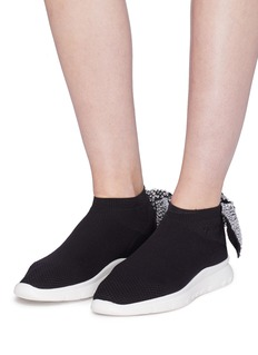 Joshua Sanders Strass bow knit sock sneakers