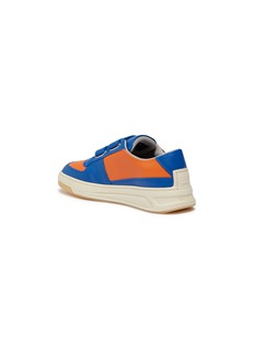 Acne Studios Slogan print face patch strap leather kids sneakers