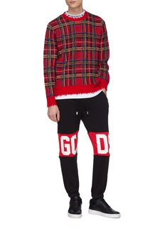 GCDS Colourblock logo print sweatpants