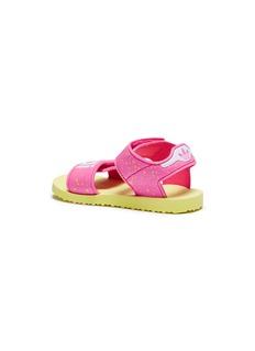 Adidas Logo splatter print toddler beach sandals