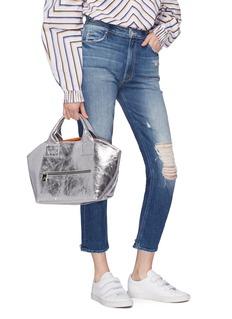 A-Esque 'Garden' reversible metallic leather bag