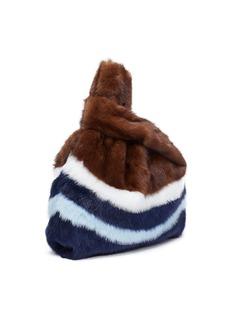 Simonetta Ravizza 'Furrissima' stripe mink fur sac bag