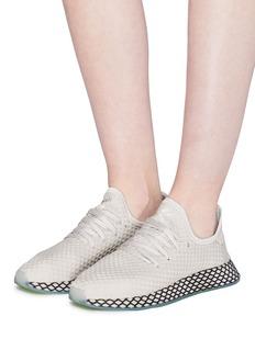 Adidas 'Deerupt' grid webbing overlay mesh sneakers