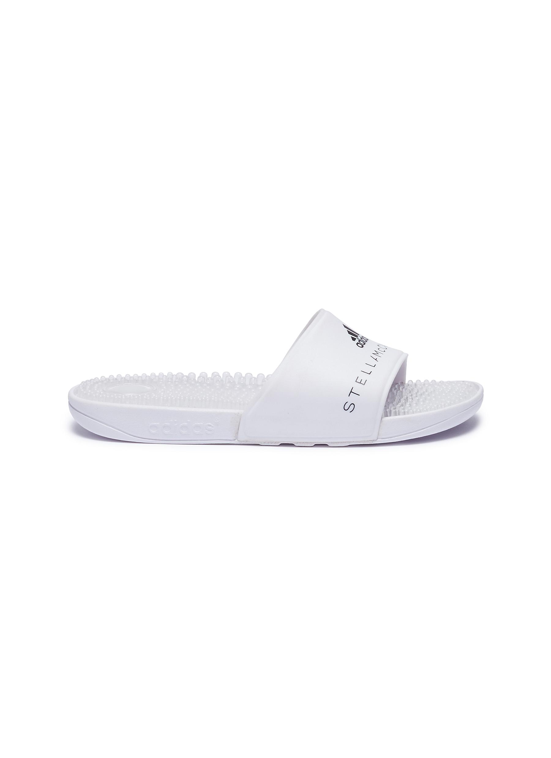 dfb25eaa32dd adidas by Stella McCartney.  Adissage  textured insole rubber slide sandals