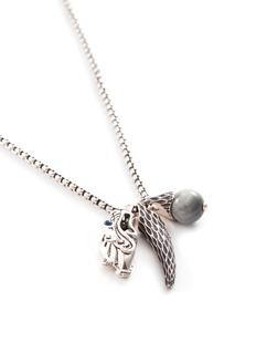 John Hardy 'Legends Naga' sapphire eagle eye silver pendant necklace