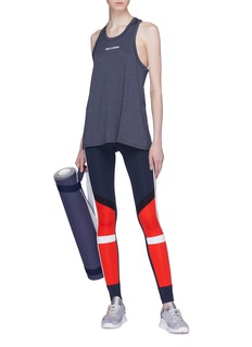 The Upside Stripe outseam colourblock yoga pants