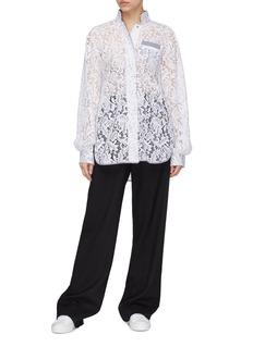 J.Cricket 'Bubble' contrast trim guipure lace blouse